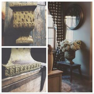 Highly Distressed Rustic Urn Planter